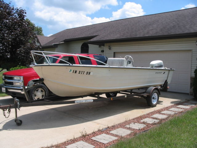 18 ft starcraft center console aluminum fishing boat 90 for Starcraft fishing boats