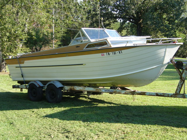 1975 starcraft islander 22ft aluminum cabin cruiser see for Aluminum boat with cabin for sale