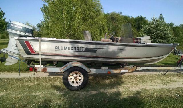 1986 alumacraft classic deluxe 16ft fishing boat for 16 ft fishing boat