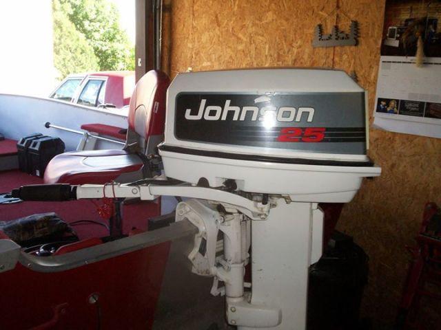 Motor Mount Price >> 1992 14' lund fishing boat w/ 25 hp johnson long shaft - Lund rebel 1992 for sale