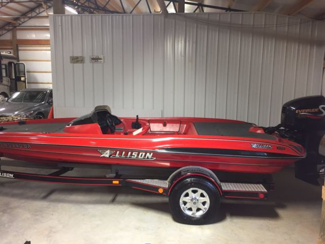 1994 allison xb2003 bass boat with 2001 evinrude 150 hp for Bass boats with evinrude motors