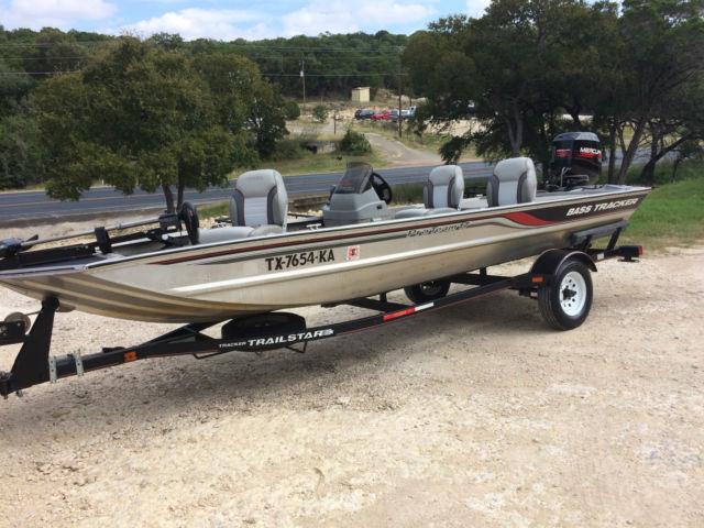 1997 Tracker Aluminum Bass Tracker Fishing Boat With 40 Hp Merc Low Hours Tracker Pro Team