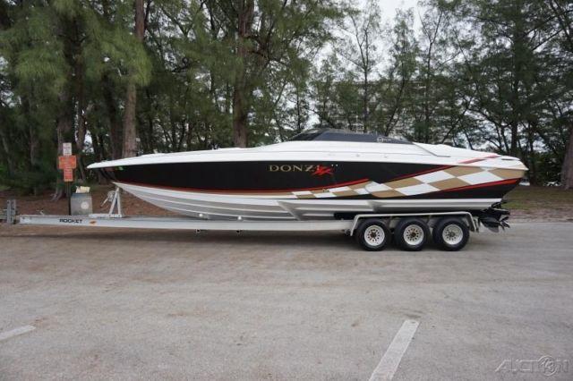1999 donzi 33zx go fast speed boat twin big block v8 454