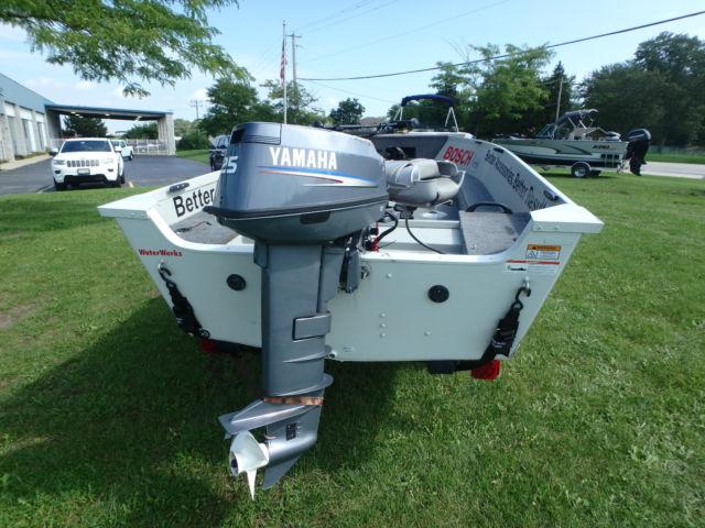 2010 alumacraft 145 fisherman tiller 25 hp yamaha 2 stroke