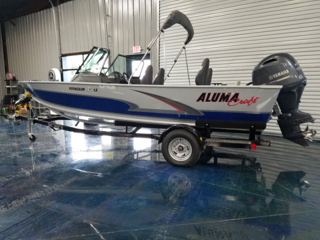 2016 alumacraft voyager 175 le with yamaha 115 hp bimini for Best boat for fishing and family fun