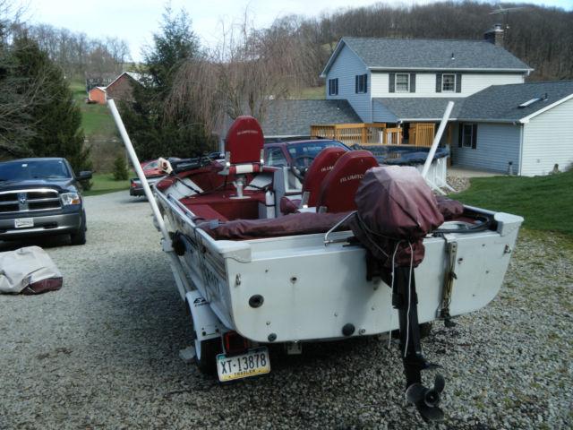 alumacraft backtroller  mercury  bimini top custom cover trolling motor alumacraft