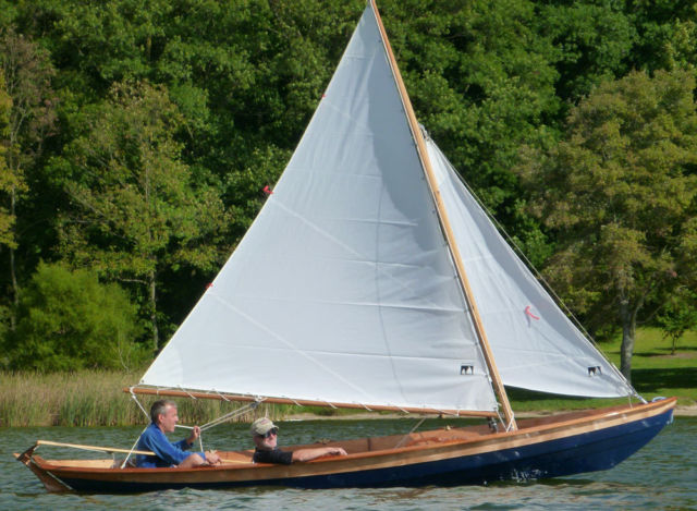 Beautiful Wooden Sailing Rowing Boat Plus Trailer Hand