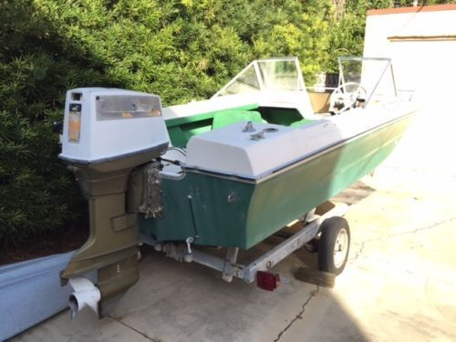 Classic 1972 tiki winner boat with trailer and 70 hp for 70 hp evinrude outboard motor for sale