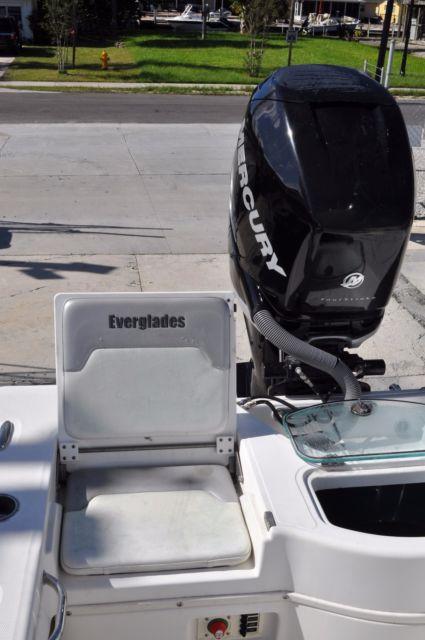 Everglades Boat model 243 with Mercury Verado 250 HP Outboard