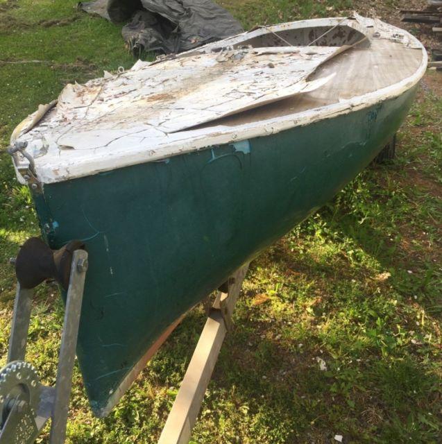 Jet 14 sailboat centerboard, 'one design' wood, #619, Needs full