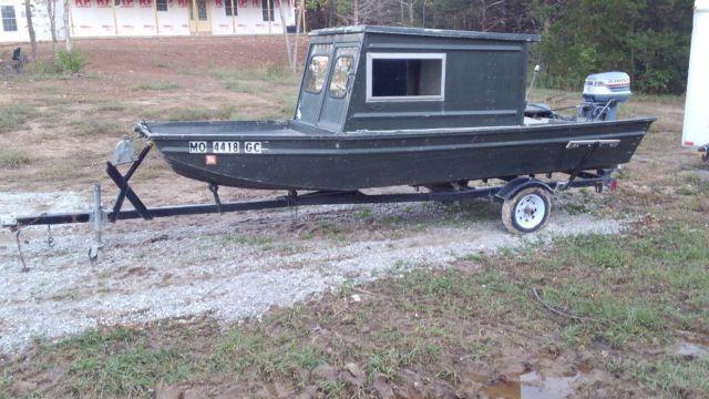 jon boat   john boat fishing duck blind