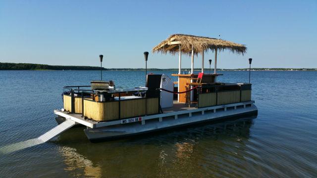 Pontoon Tiki Party Boat Yamaha Motor And Trailer Custom 2016 For Sale