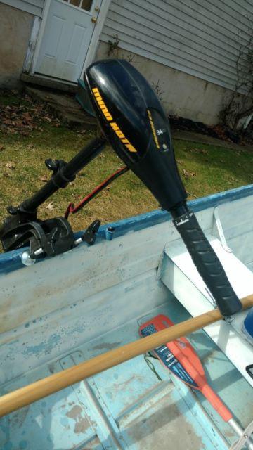 rowboat-14 ft boat 1969---trailer 1990- 34 thrust Minn Kota