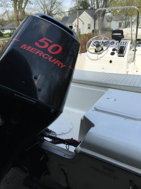 Seafox 160CC Center Console, Galvanized trailer and 50 Hp