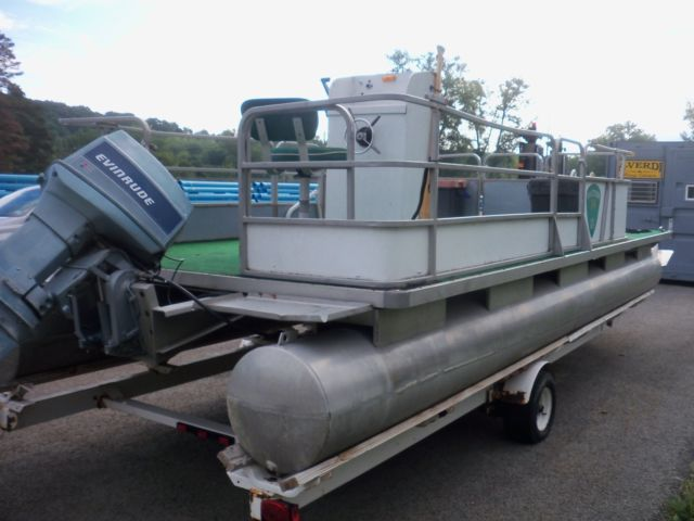 SMOKE CRAFT PONTOON BOAT WITH HOMEMADE TRAILER (located in
