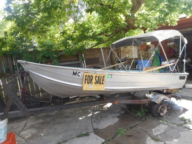 Used Aluminum Fishing Boat Car Top 5 Hp Outboard N Electric Motor Rhhighlifeyachts: Car Top Boat Trailer At Cicentre.net