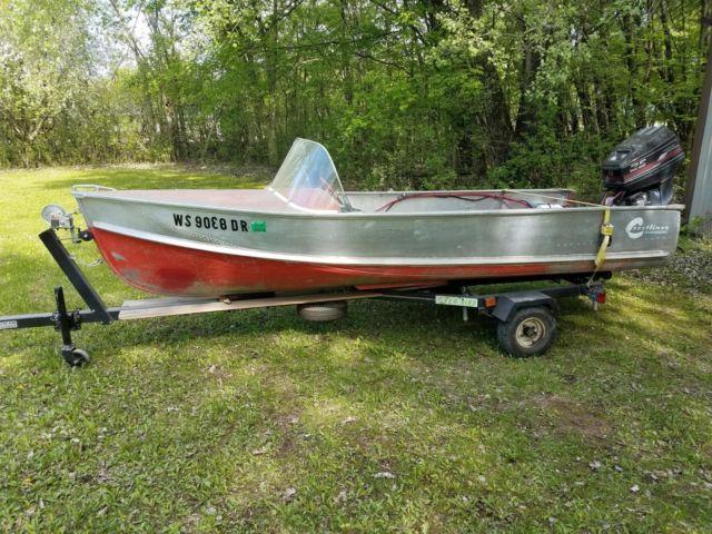 Vintage 1955 Crestliner Viking Aluminum Outboard Boat Larson Antique