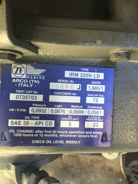 YANMAR 6 CYLINDER DIESEL ENGINE 420HP 309KW - YANMAR 6LY2M