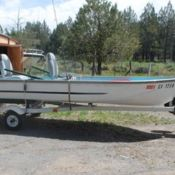 aluminum boat 14 foot with motor and accessories - FISHER