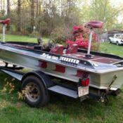 Tidecraft wildfire xv150 bass boat motor trailer many for Trolling motor for 18 foot boat