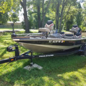 1994 Allison XB2003 bass boat with 2001 Evinrude 150 HP FICHT