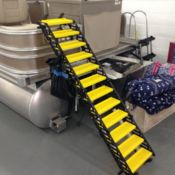 Dog boarding ladder for pontoon boats Wag Free shipping